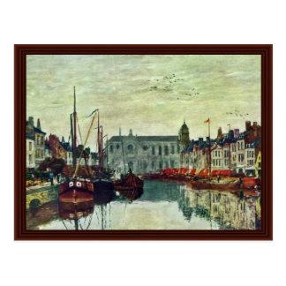 Canaux à Bruxelles par Boudin Eugène Carte Postale