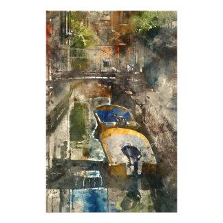 Canaux de Venise - aquarelle de Digitals Papier À Lettre Personnalisable