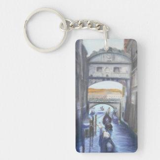 Canaux de Venise avec le porte - clé de gondoles Porte-clés