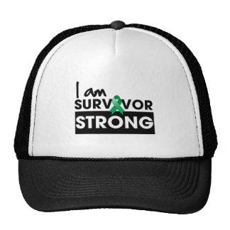 Cancer de foie je suis survivant fort casquettes de camionneur