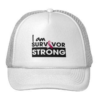 Cancer de la gorge je suis survivant fort casquette de camionneur