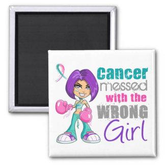 Cancer de la thyroïde sali avec Girl png faux Aimants Pour Réfrigérateur