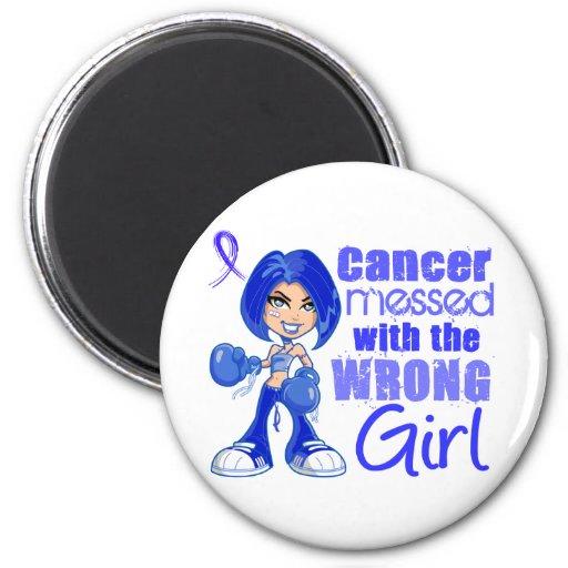 Cancer du rectum sali avec Girl.png faux Aimant Pour Réfrigérateur