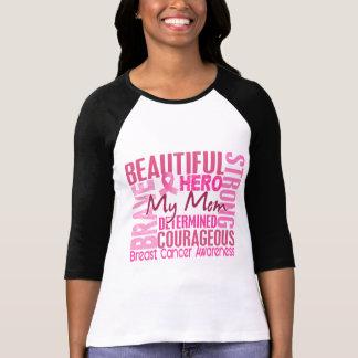 Cancer du sein carré de maman d'hommage t-shirt
