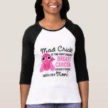 Cancer du sein fou de maman du poussin 2 t-shirt