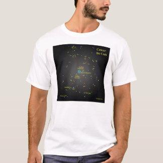 Cancer la constellation de crabe t-shirt