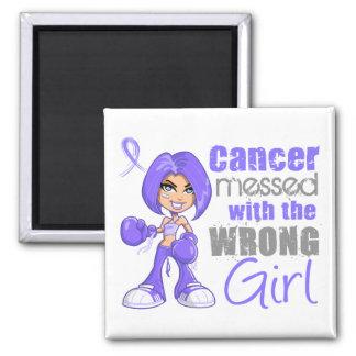 Cancer oesophagien sali avec la fille fausse aimant pour réfrigérateur