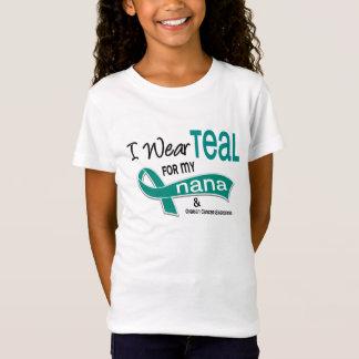 Cancer ovarien JE PORTE TEAL POUR MA NANA 42 T-Shirt