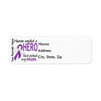 Cancer pancréatique de maman nécessaire de héros étiquettes d'adresse retour