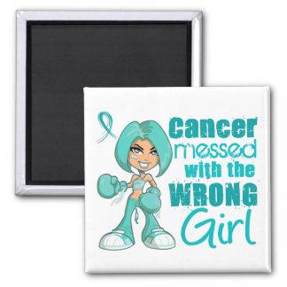 Cancer péritonéal sali avec Girl png faux Magnets