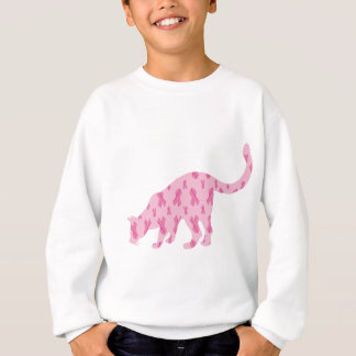 Cancer-Ruban-Chat Sweatshirt