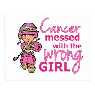 Cancer sali avec le cancer du sein faux de la carte postale