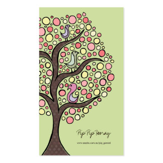 Candy Bird Tree Online Store Business Profile Card Business Card Templates