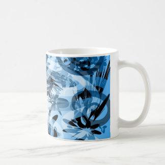 Caneca Azul Abstrata Mug À Café