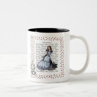Canette Alice dans le pays des merveilles Mug Bicolore