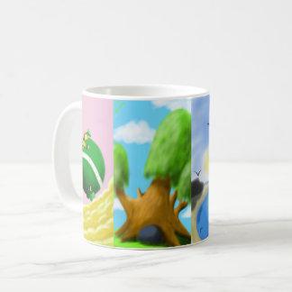 Canette avec des peintures mug
