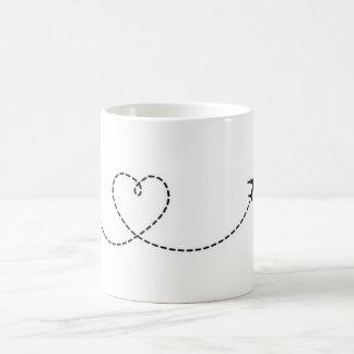 Canette Avion Coeur Mug