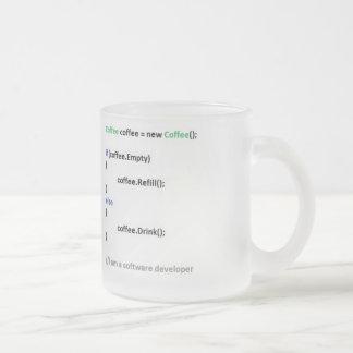 Canette Developer Mug En Verre Givré