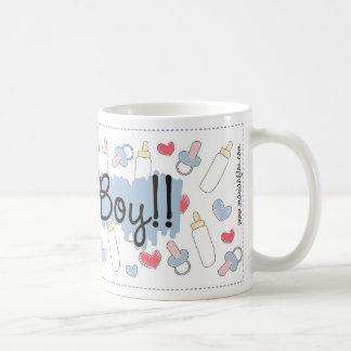 "Canette «It´s à Boy "" Mug Blanc"