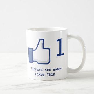 Canette «Likes This» Facebook Personalizável Tasse À Café