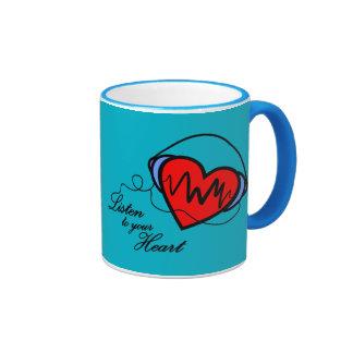 Canette Listen tu le your heart Mug Ringer