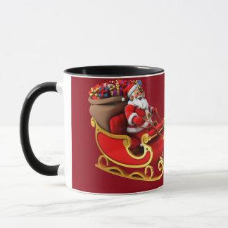 """Canette «Père Noël et son traîneau """" Mug"""