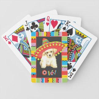 Caniche de jouet de fiesta jeux de cartes