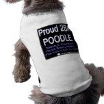 Caniche fier - (bleu) - chemise de chien manteaux pour toutous