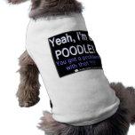 Caniche fier - (bleu) - chemise de chien t-shirt pour animal domestique