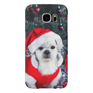 Caniche père Noël - chien de Noël - chien du père
