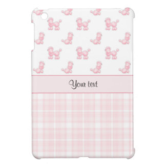 Caniches et contrôles roses de rose coques iPad mini