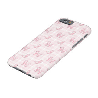 Caniches et contrôles roses mignons coque iPhone 6 barely there