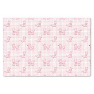 Caniches et contrôles roses mignons papier mousseline