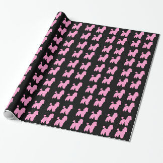 Caniches roses et petit pain noir de papier papiers cadeaux noël