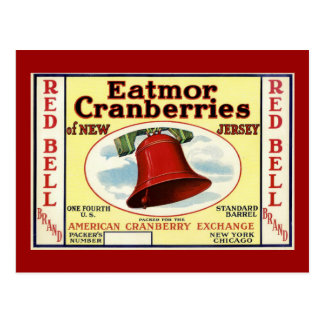 Canneberge rouge de Bell de New Jersey Carte Postale