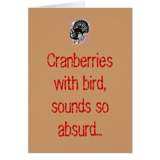 Canneberges avec l'oiseau, bruits si absurdes… carte de vœux