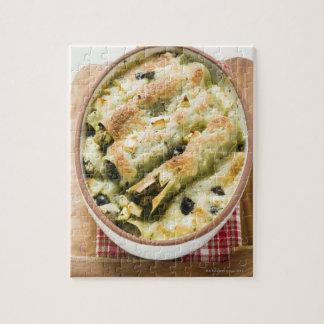 Cannelloni avec le remplissage de fromage puzzle