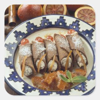 Cannelloni di ricotta - Sicile - Italie pour Sticker Carré