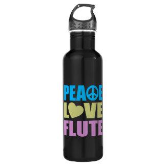 Cannelure d'amour de paix bouteille d'eau en acier inoxydable