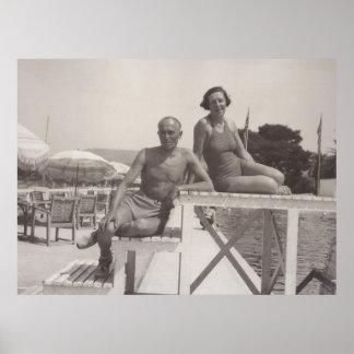 Cannes, France en 1930 s Affiche