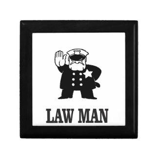 cannette de fil de représentant de la loi petite boîte à bijoux carrée