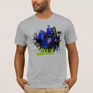 Cannette de fil sur le cheval t-shirt