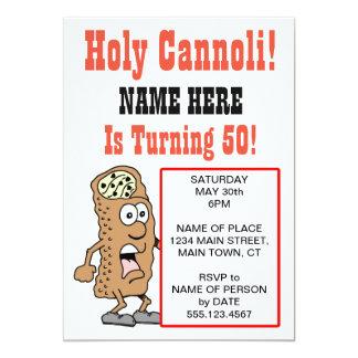 Cannoli saint tournant l'invitation de 50 parties carton d'invitation  12,7 cm x 17,78 cm