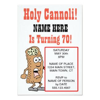 Cannoli saint tournant l'invitation de 70 parties carton d'invitation  12,7 cm x 17,78 cm