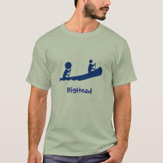 Canoë de bleu de crâneur t-shirt