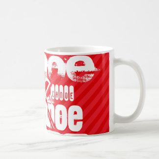 Canoë ; Rayures de rouge d'écarlate Mug
