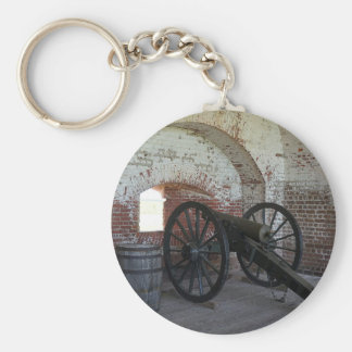 Canon au fort Pulaski Porte-clés
