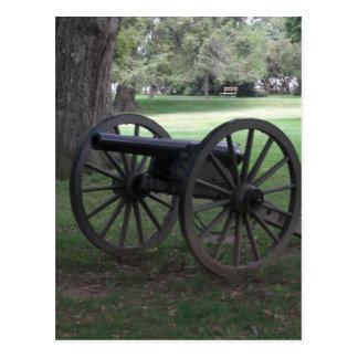 Canon de guerre civile à Gettysburg Carte Postale