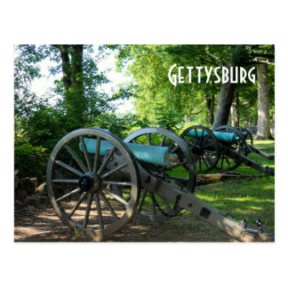 Canons de parc militaire national de Gettysburg Carte Postale