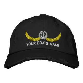 Canotage ou navigation personnalisé casquette brodée